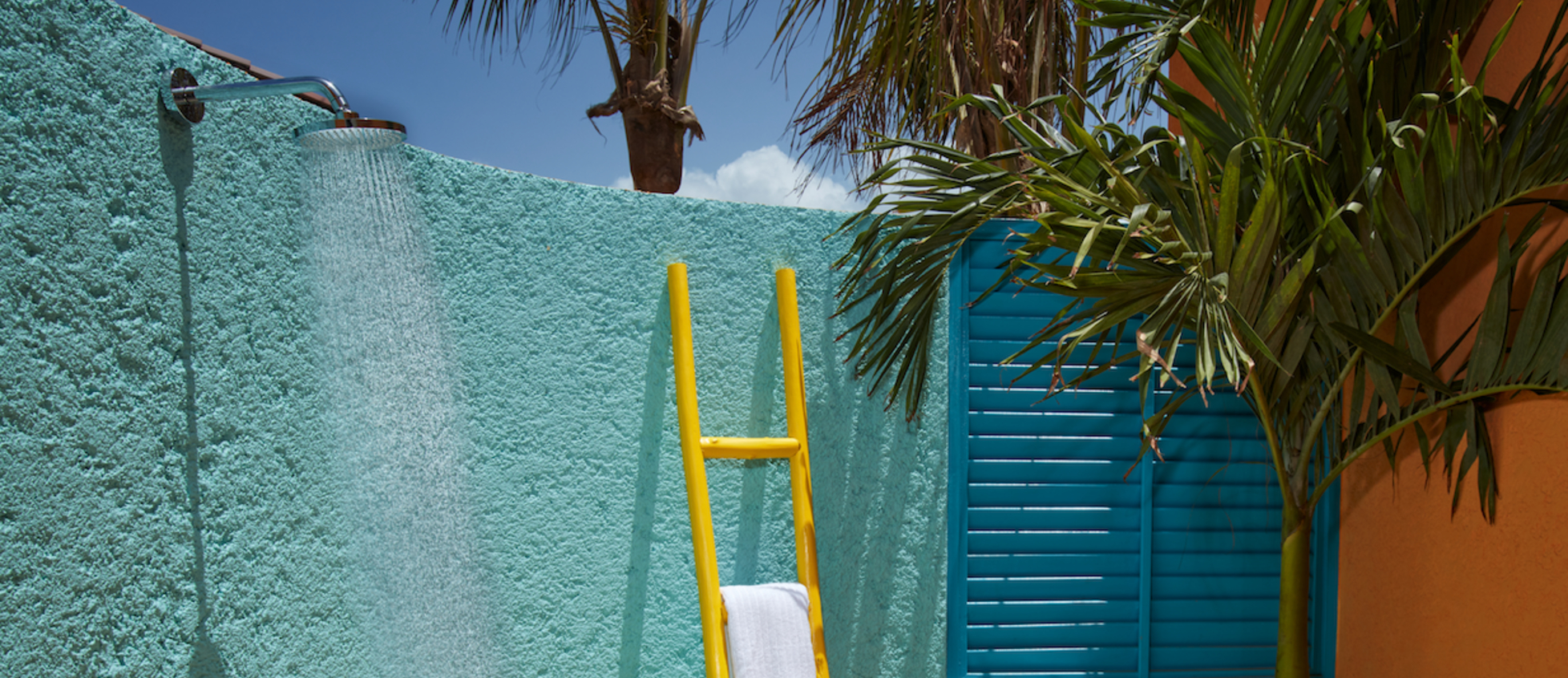 outdoor shower in coco casita